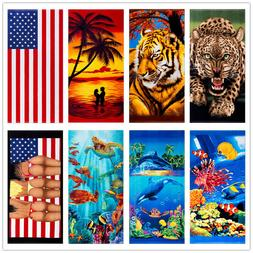 1/2 Pack Beach Towels Travel Towel Absorbent Shower Towels Q