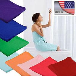 1- Microfiber Towel Sport Gym Bath Quick Dry Travel Swimming