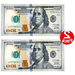 New 100 Dollar Bill Printed Beach Towel  - 2 Pack Set