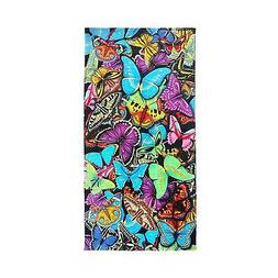 Ben Kaufman Sales 105049 Butterflies Beach Towel Fiber React