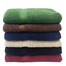 12 Pack of True Color Bath Towels - 100% Ring-Spun Cotton 25