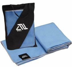 2 Pack Microfiber Travel Towel Sets Quick Dry Sports Gym Bea