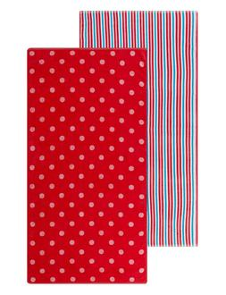 2 pk pink red and blue stripes