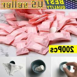200pcs Travel Dry Compressed Coin Face Towel Baby Wipes Tabl