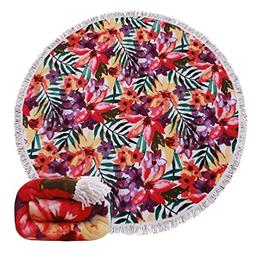 Genovega 23 Options Thick Round Beach Towel Blanket - Hawaii