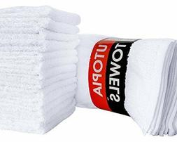 Cotton Washcloths 12x12 in Pack of 24 & 60 By Utopia Towels