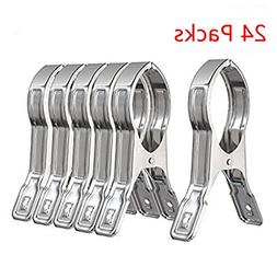 ASIBT 24 Packs Double Strong Jumbo Stainless Steel Quilt Han