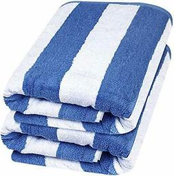 Utopia Towels 35x70 Inches Beach Towels  - Cabana Stripe Lar