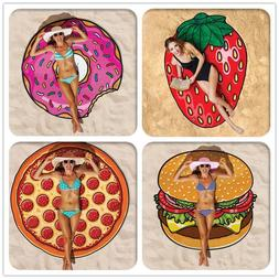 3D Pattern Printing Food Furit Pool Shower Beach Mat Towel S