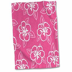 3D Rose Hawaiian Hibiscus Flower Print-Pink and White Hand/S