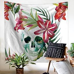 3D Skull Tapestry Beach Towel Wall Hanging Art Room Decor Sk