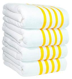 Paradise Linen 4 Premium Bath Towels Beach Pool-Towels 100%