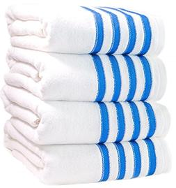 4 Premium Bath Towels Pool-Towels Beach-Towels. 100% USA Cot