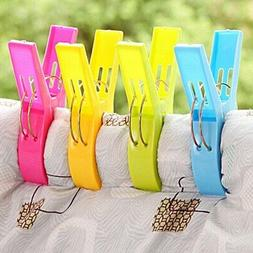4pc Large Novelty Sunbed Beach Towel Clips Clamps Pegs Heavy