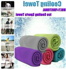 5 Pack Summer Ice Cold Instant Cooling Towel Sports Gym Fitn
