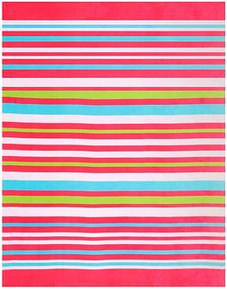 "58""x74"" Beach Blanket Beach Towel ""Horizontal Bold Stripes P"