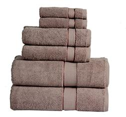 600 GSM Ultra Soft 100% Cotton 6 Piece Towel Set : 2 Bath To