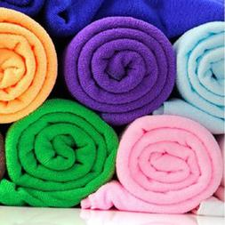 70x140cm Absorbent Microfiber Drying Bath Beach Towel Washcl