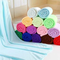 80*140cm Microfiber Fiber Bath Beach Absorbent Drying Washcl