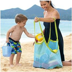 BeeSpring Extra Large Family Mesh Beach Bag Tote Backpack To