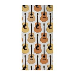 CafePress Acoustic Guitars Pattern Large Beach Towel, Soft 3