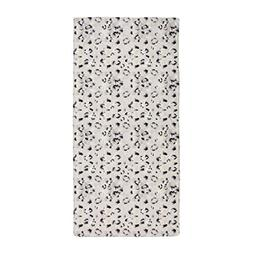 CafePress - Animal Print SNOW LEOPARD - Large Beach Towel, S