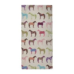 CafePress - Colorful Horse Pattern - Large Beach Towel, Soft