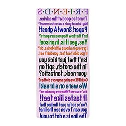 """CafePress - Friends TV Quotes - Large Beach Towel, Soft 30""""x"""