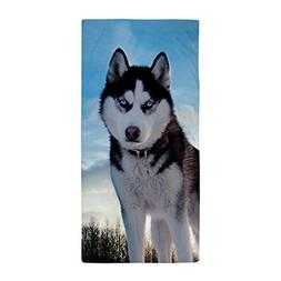 CafePress - Husky Dog Outdoors - Large Beach Towel, Soft 30""