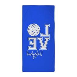 CafePress - Love Volleyball, Royal Blue3 Beach Towel - Large