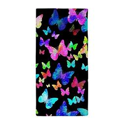 CafePress - Psychedelic Butterflies - Large Beach Towel, Sof