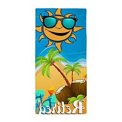 "CafePress - Retired Tropical - Large Beach Towel, Soft 30""x6"