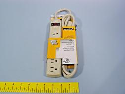 Fellowes 99000 Six-Outlet Power Strip, 120V, 4ft Cord, 10 7/