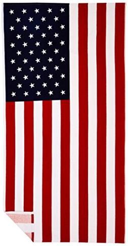Kaufman -  AMERICAN FLAG - 30in x 60in Beach Towel