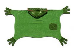 Kidorable Kids Frog Towel, Size Small, Green Hooded Towel fo