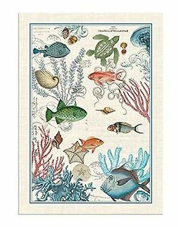 Michel Design Works Sea Life Cotton Kitchen Towel, Multicolo