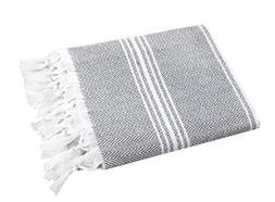 SALBAKOS Turkish Peshtemal Fouta Towel, 100% Organic Cotton,