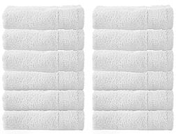 WhiteClassic Luxury Washcloths for Bathroom-Hotel-Spa-Kitche