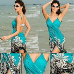 Women Bathing Swimsuit Bikini Swimwear Wrap Pareo Cover Up B