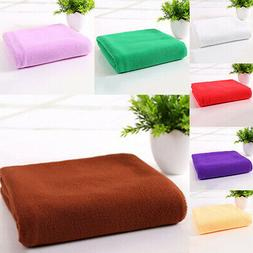 Absorbent Microfiber Fiber Towel Beach Drying Bath Washcloth