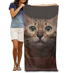 Yisliferunaz American Cat Eyes Beach Towels Novelty 100% Pol