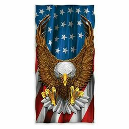 American Eagle USA Flag Beach/Shower Towel by Dawhud Direct
