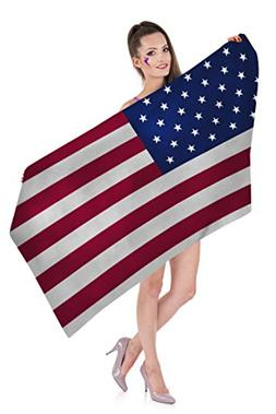 Zohra American Flag Beach Towels for Girls, Cheap Beach Towe