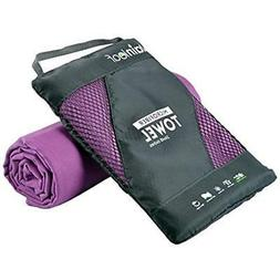Rainleaf Antibacterial Microfiber Towel, X-Large , Purple Sp