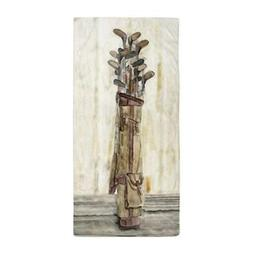 CafePress Antique Watercolor Golf Clubs Beach Towel