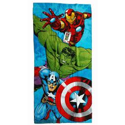 Marvel Avengers Iron Man Hulk Captn America Beach Towel Pool
