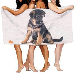 Baby German Shepherd Beach Towels Ultra Absorbent Microfiber
