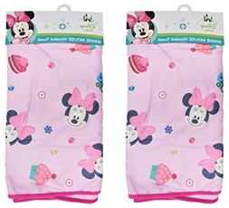 2-Pack Disney Baby Minnie Mouse Hooded Bath Towels, Boutique