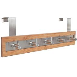 ToiletTree Products Bamboo Wood & Stainless Steel Over the D