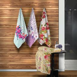 Bath / Beach Towel with Floral and Animal Pattern. 1 Bath To
